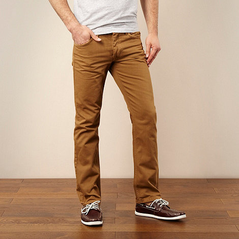 RJR.John Rocha - Dark tan regular fit jeans