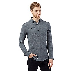 RJR.John Rocha - Big and tall grey textured striped jersey shirt