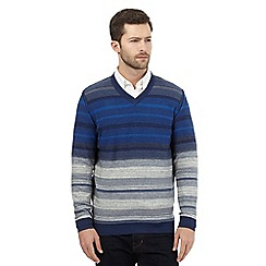 RJR.John Rocha - Big and tall blue V neck jumper