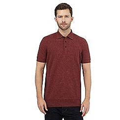 RJR.John Rocha - Big and tall red knitted polo top