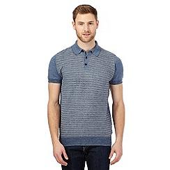 RJR.John Rocha - Blue textured panel polo shirt