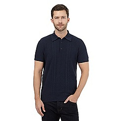 RJR.John Rocha - Navy textured polo top