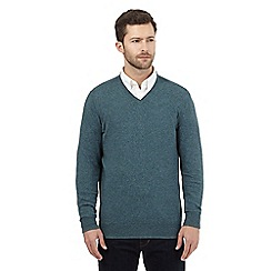 RJR.John Rocha - Big and tall turquoise V neck jumper