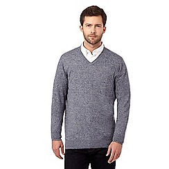 RJR.John Rocha - Big and tall blue V neck knitted jumper