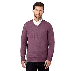 RJR.John Rocha - Big and tall purple V neck knitted jumper