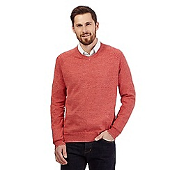RJR.John Rocha - Big and tall red linen blend jumper