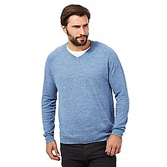 RJR.John Rocha - Big and tall light blue linen blend jumper