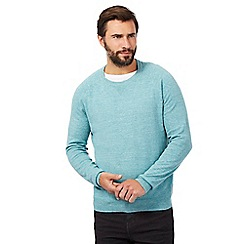 RJR.John Rocha - Big and tall aqua linen blend jumper