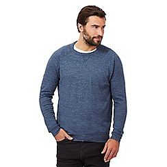 RJR.John Rocha - Big and tall navy linen blend jumper