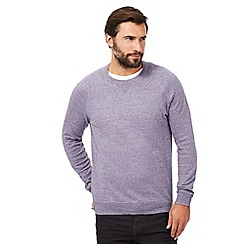 RJR.John Rocha - Big and tall lilac linen blend jumper
