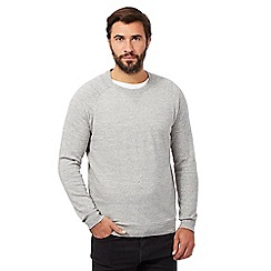 RJR.John Rocha - Big and tall light grey linen blend jumper