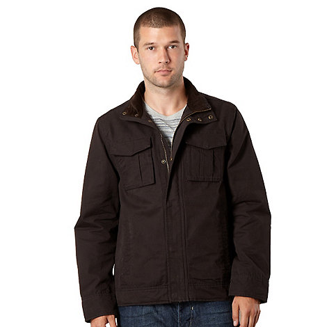 RJR.John Rocha - Big and tall designer black washed effect harrington jacket