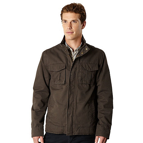 RJR.John Rocha - Designer brown washed effect Harrington jacket