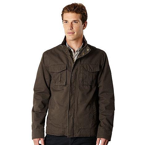 RJR.John Rocha - Big and tall designer brown washed effect harrington jacket