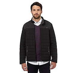 RJR.John Rocha - Big and tall black quilted fleece jacket