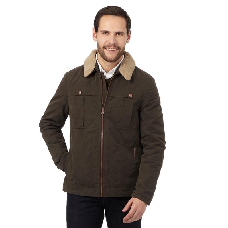 RJR.John Rocha Brown Shower Resistant Harrington Jacket,