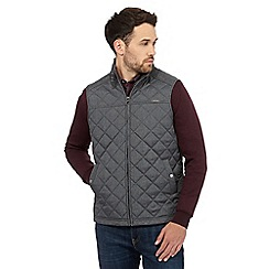 RJR.John Rocha - Big and tall grey textured quilted gilet