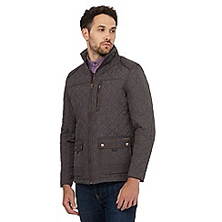 RJR.John Rocha - Grey textured quilted jacket