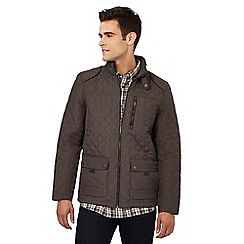 RJR.John Rocha - Big and tall brown quilted jacket