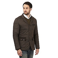 RJR.John Rocha - Dark brown quilted single breasted jacket