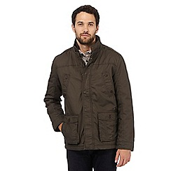 RJR.John Rocha - Big and tall brown fleece jacket