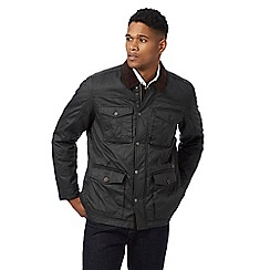 RJR.John Rocha - Big and tall dark grey waxed corduroy trim jacket