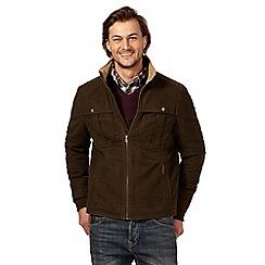 RJR.John Rocha - Big and tall chocolate moleskin harrington jacket