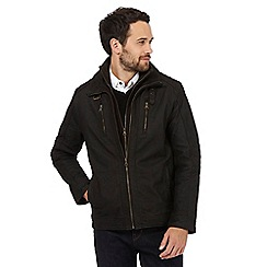 RJR.John Rocha - Big and tall dark brown leather jacket