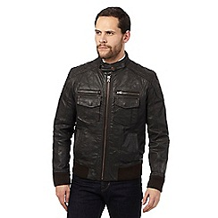RJR.John Rocha - Big and tall brown quilted biker jacket