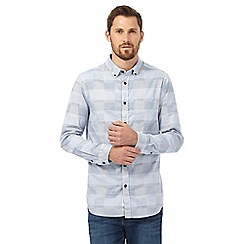 RJR.John Rocha - Blue checked textured tailored fit shirt