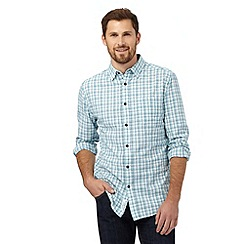 RJR.John Rocha - Big and tall turquoise grid patterned regular fit shirt