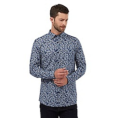 RJR.John Rocha - Big and tall navy floral print shirt