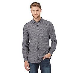RJR.John Rocha - Big and tall grey zigzag checked print regular fit shirt