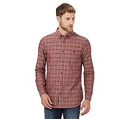 RJR.John Rocha - Red checked print tailored fit shirt
