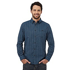 RJR.John Rocha - Blue textured striped regular fit shirt