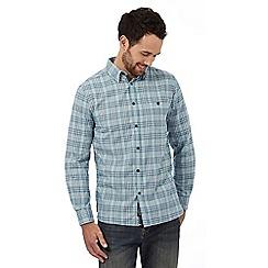 RJR.John Rocha - Big and tall light blue checked regular fit shirt