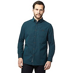 RJR.John Rocha - Dark green textured striped shirt
