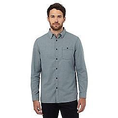 RJR.John Rocha - Dark turquoise dobby crosshatch shirt