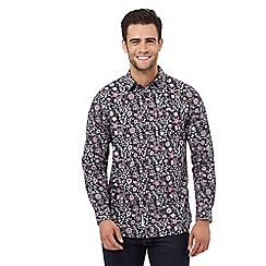 RJR.John Rocha - Big and tall purple floral print regular fit shirt