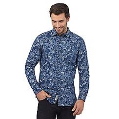 RJR.John Rocha - Big and tall blue floral print regular fit shirt