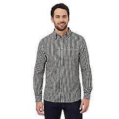 RJR.John Rocha - Big and tall white and black regular fit gingham checked shirt