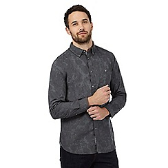 RJR.John Rocha - Big and tall dark grey printed regular fit shirt