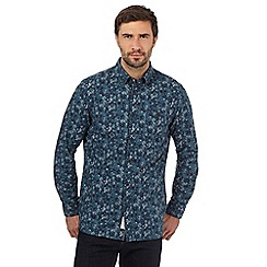 RJR.John Rocha - Dark turquoise floral print tailored fit shirt