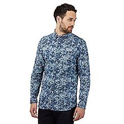 RJR.John Rocha - Blue floral pattern tailored fit shirt
