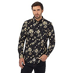 RJR.John Rocha - Big and tall black floral print shirt