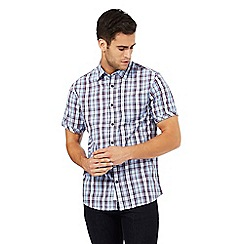 RJR.John Rocha - Big and tall blue checked print shirt