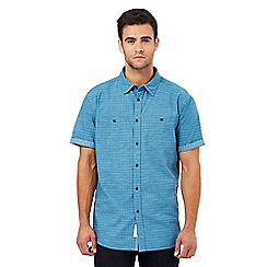 RJR.John Rocha - Big and tall dark turquoise grid print shirt