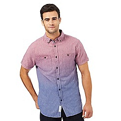 RJR.John Rocha - Pink and purple textured line ombre-effect shirt