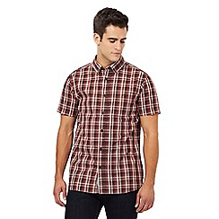 RJR.John Rocha - Red checked print regular fit shirt