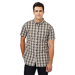 RJR.John Rocha - Grey checked print regular fit shirt